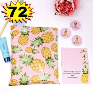 72pc Pineapple Packaging Supplies Kit Polymailers
